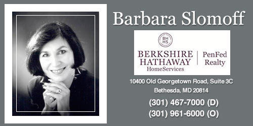 Montgomery County Maryland Real Estate Agents - Barbara Slomoff.